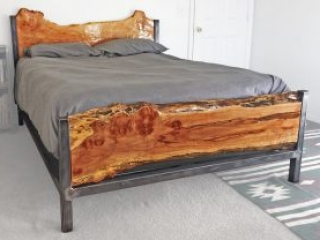 live edge furniture bed frame headboard rustic modern in bend oregon