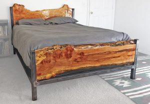 live edge furniture bed frame headboard rustic modern in bend oregon