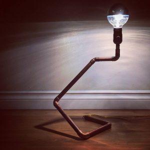 Custom Lighting, copper modern lamp and chandelier