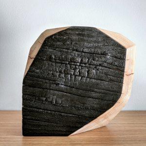Shou Sugi Ban burned charred blackened wood ebonized modern rustic in Bend Orgeon
