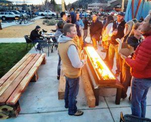 Custom fire pit restaurant patio commercial design in bend oregon